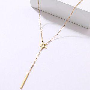 Dainty Link Star Shape Necklace